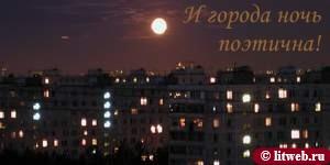 И города ночь поэтична! (© litweb.ru)